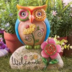 Colorful Owl Ornament for Outdoors