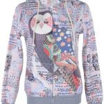 Women's zip up hoodie for owl lovers