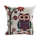 decorative cushion cover for owl lovers