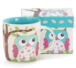 Gift boxed coffee mug with cute owl design