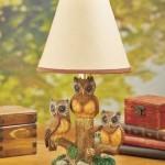 Charming Little Owl Lamp for the Living Room