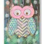 Cute Owl Print for Kids Bedroom