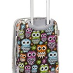 Owl Design Hard Shell Carry On Luggage