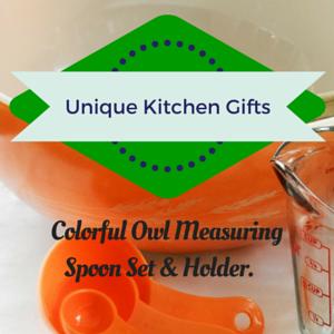 Owl Measuring Spoon Set & Holder