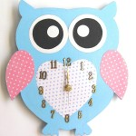 Pastel Owl-Shaped Clock for the Nursery