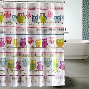 Owl Shower Curtain Pretty Shower Curtain For Kids Bathroom