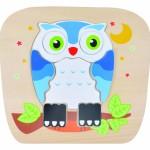 Reversible Wooden Owl Puzzle