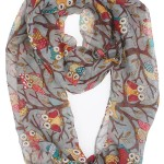 Soft Owl Print Scarf for Women