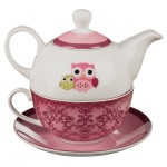 Tea for One Gift Set for Owl Lovers
