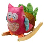 Wooden Musical Pink Owl Rocker