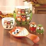 6 Piece Owl Ceramic Kitchen Gift Set