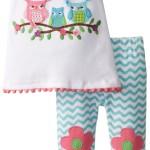 Toddler Girls Owl Tunic and Legging Set