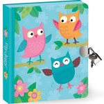 Cute Lock & Key Owl Diary for Kids