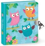 Cute Lock & Key Owl Diary for Kids