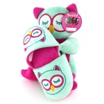 Girls Owl Plush Toy and Slippers Gift Set