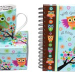 Scripture Owl Mug and Journal Gift Set
