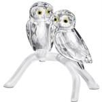 Stunning Swarovski Crystal Owls Figurine