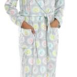 Super Soft Owl Print Womens Robe & Slippers Set