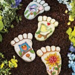 Unique Footprint Stepping Stone Set for the Garden