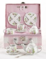 Little Owls Childs Porcelain Tea Set with Case