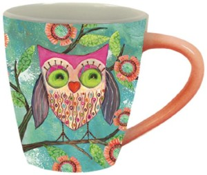 Microwave Safe Owl Coffee Mug with Large Handle