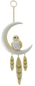 Hand Painted Barn Owl Dreamcatcher